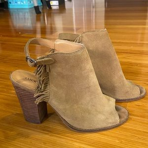 Lucky Brand Mules with fringe